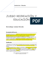 Juego, Recreación y Educación Luciano Mercado Hsa3