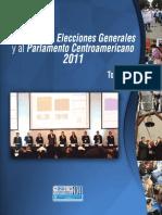 Memoria Elecciones Generales 2,011, TSE Guatemala CA