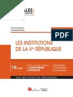 J4L1 Bis (Sujet) - Les Institutions de la Ve République (Annales)