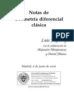 Notas de Geometría Diferencial Clásica
