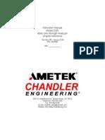 Model 5265 Static Gel Strength Analyzer Manual