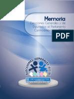 Memoria Elecciones Generales 2,015 y Diputados ParlaCen, TSE Guatemala