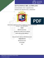 Analisis Centro Comercial Juliaca