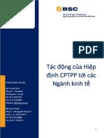BSC_Hiệp Định CPTPP Và Các Ngành_Sector Insight 8032018
