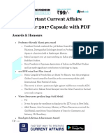 Important Current Affairs November 2017 Capsule With PDF