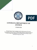 Louisiana DOJ report on Alton Sterling shooting