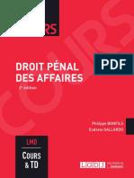 J3L2 (Corrigé) - Droit pénal des affaires (Cours)