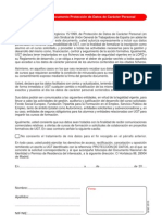 Documento de Protección Datos de Carácter Personal