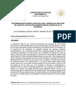 Determinación de Riboflavina en Leche y Bebidas de Imitación Por Cromatografia Liquida de Alta Eficiencia