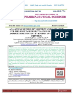 ANALYTICAL METHOD DEVELOPMENT AND VALIDATION FOR THE SIMULTANEOUS ESTIMATION OF PHOSPHATE AND DEXTROSE CONTENT BY RP-HPLC IN CABAZITAXEL INJECTION.