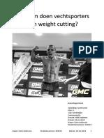 essay weightcutting volledig