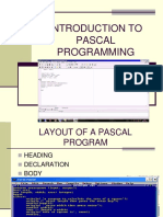 introduction to pascal programming