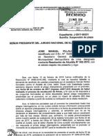 Pedido de suspención de plazo -  Secretario General José Manuel Villalobos Campana