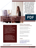 Transformational Coaching Courses, Texas A&M University, via Distance