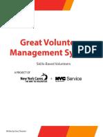 GVMS Guide Skills Based Volunteers