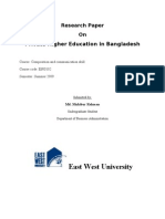 Private Sector Higher Education in Bangladesh