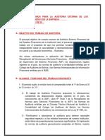 Propuesta Tecnica de Auditoria Externa