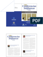 Folleto i Ciclo Conferencias