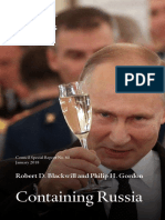 Containing Russia Council of Foreign Relations. Containing Russia How to Respond to Moscow's Intervention in U.S. Democracy and Growing Geopolitical Challenge
