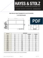 Single Shaft Mixer Gate Discharge Dimensions