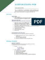 Cotización de Página Web