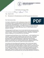 Reinstatement of a Citizenship Question on the 2020 Decennial Census Questionnaire