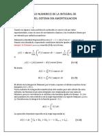 Cálculo Numérico Integral de Duhamel Sistema Sin Amortiguación.
