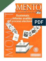 Informe Analítico Del Proceso Electoral 1,999, ASIES