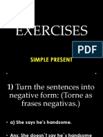 EXERCISES - Simple Present - Review