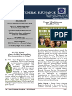 The C4C Federal Exchange Newsletter -- SPRING 2018