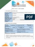 Guía de actividades y rúbrica de evaluación - Fase 2 - Ciclo contable