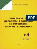 Mihail Radu Solcan - Conceptul de Mecanism Economic Si Diversele Sisteme Economice
