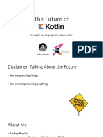 Future of Kotlin 2017