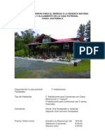 Información y Tarifas Para La Reserva Natural Privada