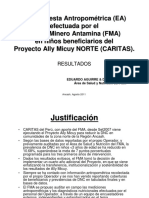 Resultados 1ra Encuesta Antropometrica AMN CARITAS Agosto2011