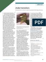 20 years of nanotube transistors