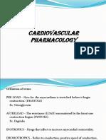 Cardio Vascular Pharmacology