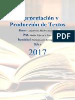Interpretación y Producción de Textos Caratula