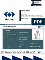 Sail Gst Training Ppt 28.02.2017