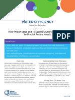 Water Efficiency Water Use Estimates FactSheet