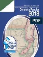 Folleto Consulta Popular 2018, Material Informativo Diferendo Territorial, Insular y Marítimo entre Guatemala y Belice, TSE Guatemala