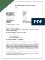 Informe Psicométrico Del Ftt Jessy