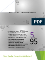 Budgeting of GAD Funds