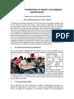 Nueva Ley Universitaria Nº 30220 y Los Cambios Importantes (1)