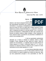 CSJN - Nota Sobre La Filtracion de Audios de CFK