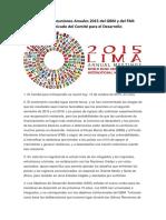 Clausura de Reuniones Anuales 2015 Del GBM y Del FMI - Conclusiones