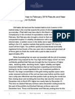 March 2018 Investment Letter - Corona Associates Capital Management LLC