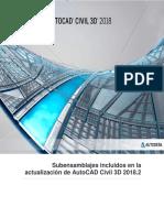Subensamblajes Incluidos en La Actualización de AutoCAD Civil 3D 2018.2