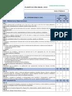 Planificacion Anual 2018 Matemáticas