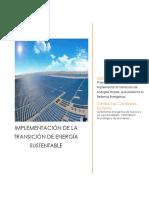 Implementación de la Transición de Energía Sustentable